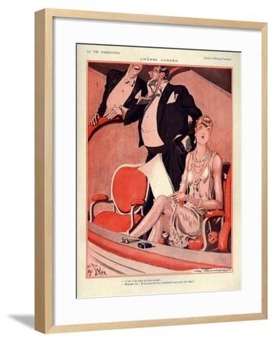 1920s France La Vie Parisienne Magazine Plate--Framed Art Print