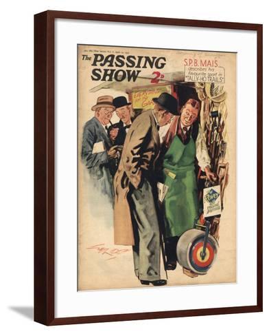 1930s UK The Passing Show Magazine Cover--Framed Art Print