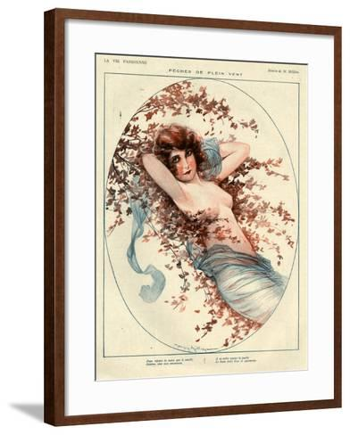 1920s France La Vie Parisienne Magazine Plate--Framed Art Print