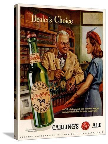 1940s USA Carling Ale Magazine Advertisement--Stretched Canvas Print