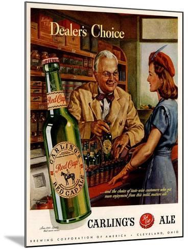 1940s USA Carling Ale Magazine Advertisement--Mounted Giclee Print