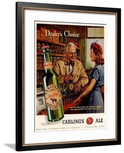 1940s USA Carling Ale Magazine Advertisement--Framed Art Print