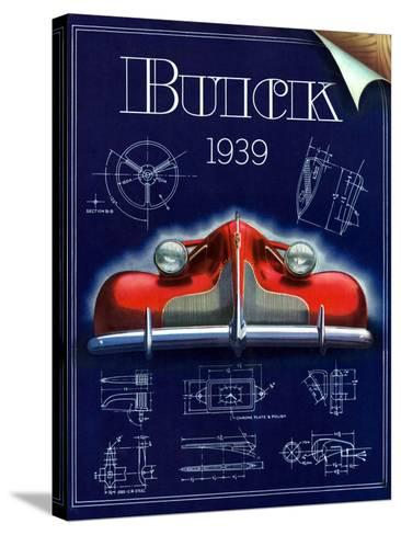 1930s USA Buick Magazine Advertisement--Stretched Canvas Print