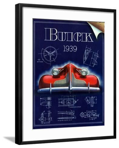 1930s USA Buick Magazine Advertisement--Framed Art Print