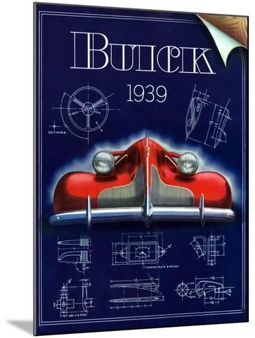 1930s USA Buick Magazine Advertisement--Mounted Giclee Print