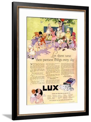 1910s USA Lux Magazine Advertisement--Framed Art Print