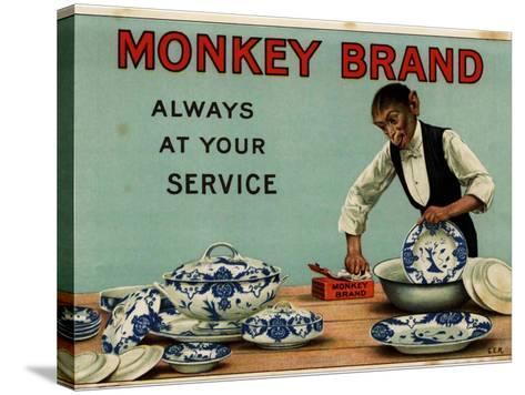 1910s UK Monkey Brand Magazine Advertisement--Stretched Canvas Print