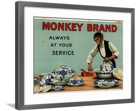 1910s UK Monkey Brand Magazine Advertisement--Framed Art Print