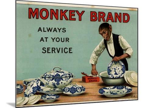 1910s UK Monkey Brand Magazine Advertisement--Mounted Giclee Print