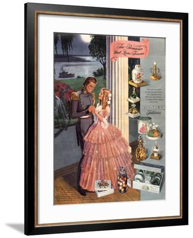 1930s USA Old South Magazine Advertisement--Framed Art Print