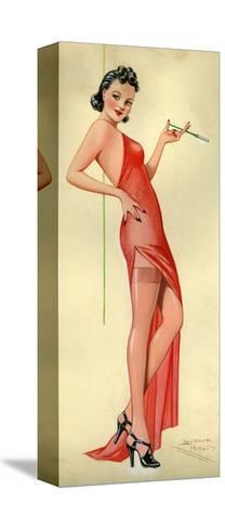 1940s UK Pin-Ups Poster--Stretched Canvas Print