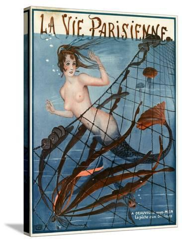 1920s France La Vie Parisienne Magazine Cover--Stretched Canvas Print
