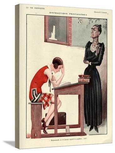 1920s France La Vie Parisienne Magazine Plate--Stretched Canvas Print