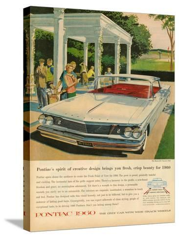 1960s USA Pontiac Magazine Advertisement--Stretched Canvas Print