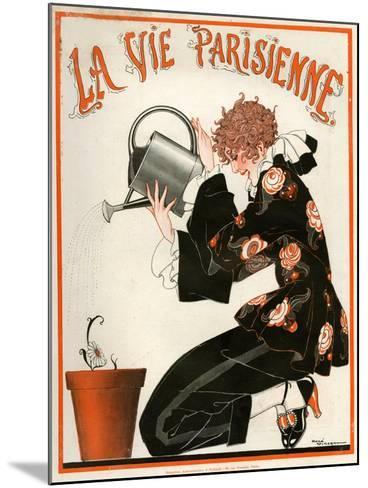 1920s France La Vie Parisienne Magazine Cover--Mounted Giclee Print