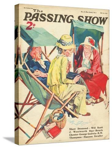 1930s UK The Passing Show Magazine Cover--Stretched Canvas Print