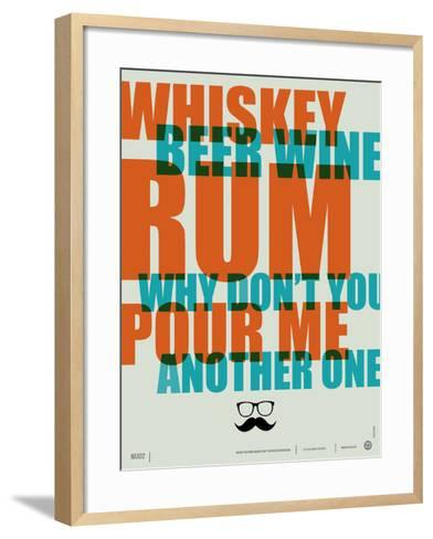 Whiskey, Beer and Wine Poster-NaxArt-Framed Art Print