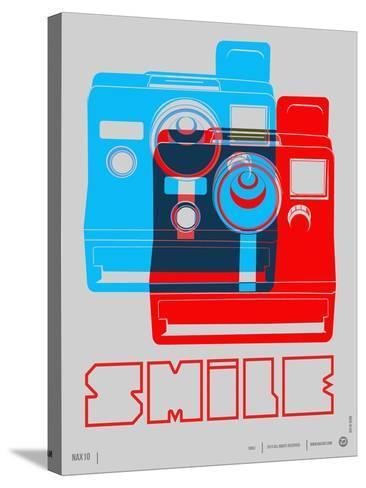 Smile Polaroid Poster-NaxArt-Stretched Canvas Print