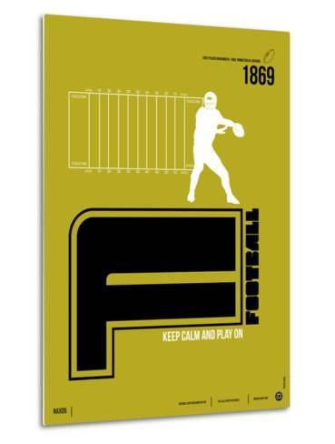 Football Poster-NaxArt-Metal Print