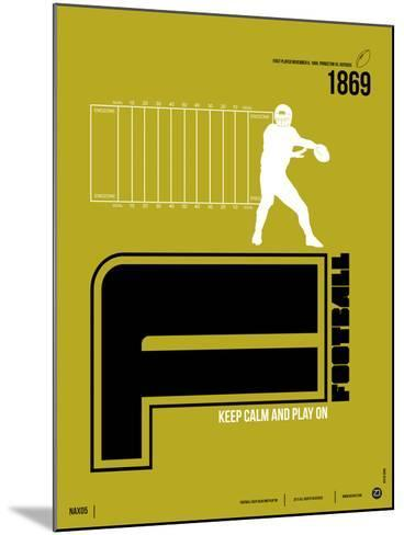 Football Poster-NaxArt-Mounted Art Print