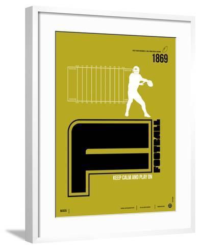 Football Poster-NaxArt-Framed Art Print