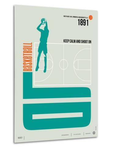Basketball Poster-NaxArt-Metal Print