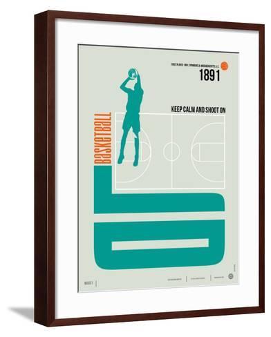 Basketball Poster-NaxArt-Framed Art Print