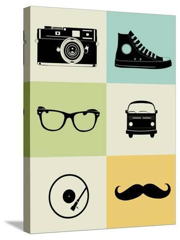 Hipster Mix Poster-NaxArt-Stretched Canvas Print