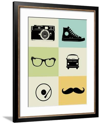 Hipster Mix Poster-NaxArt-Framed Art Print