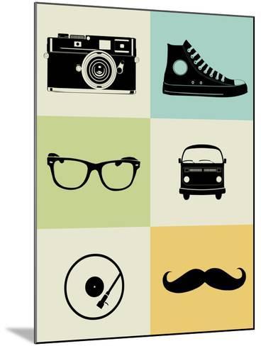 Hipster Mix Poster-NaxArt-Mounted Art Print