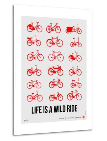 Life is a Wild Ride Poster II-NaxArt-Metal Print