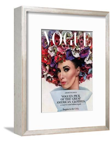 Vogue - February 1964 - Hat In Bloom-Bert Stern-Framed Art Print