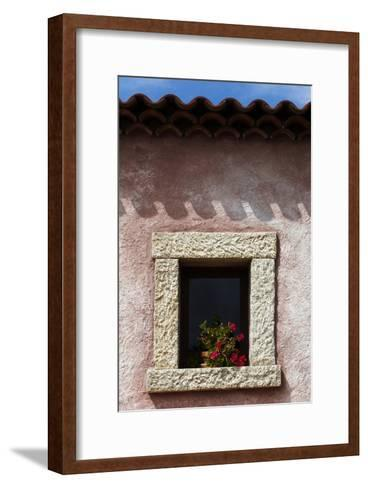 A Window of the Tenuta Pilastru Near Arzachena, Sardinia-Dave Yoder-Framed Art Print