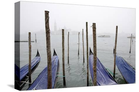 A Rare Snow Shower Powders Gondolas in Venice Near Piazza San Marco-Dave Yoder-Stretched Canvas Print