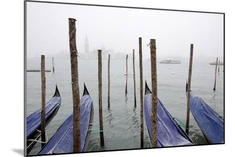 A Rare Snow Shower Powders Gondolas in Venice Near Piazza San Marco-Dave Yoder-Mounted Photographic Print