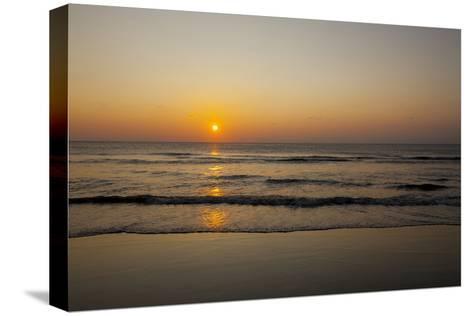 Sunrise At the Beach in Corolla, North Carolina-John Burcham-Stretched Canvas Print