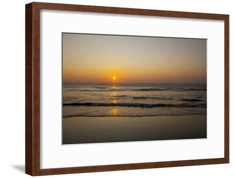 Sunrise At the Beach in Corolla, North Carolina-John Burcham-Framed Art Print