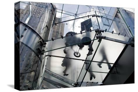 The Glass Apple Store On Fifth Avenue in New York City-Ira Block-Stretched Canvas Print