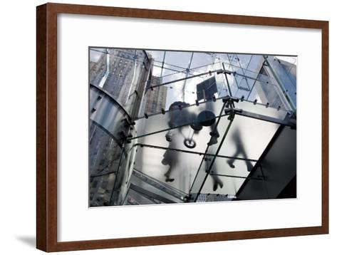 The Glass Apple Store On Fifth Avenue in New York City-Ira Block-Framed Art Print