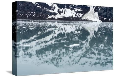 Reflection of a Glacier in the Ocean in Glacier Bay National Park-Ira Block-Stretched Canvas Print