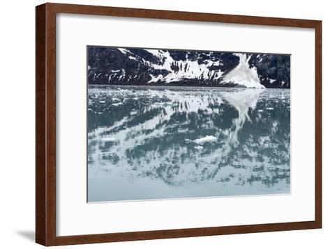 Reflection of a Glacier in the Ocean in Glacier Bay National Park-Ira Block-Framed Art Print