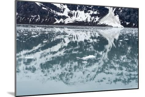 Reflection of a Glacier in the Ocean in Glacier Bay National Park-Ira Block-Mounted Photographic Print