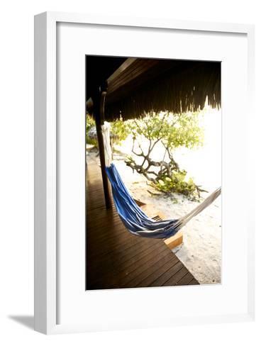 A Hammock Outside a Room At Medjumbe Island Resort in Mozambique-Jad Davenport-Framed Art Print