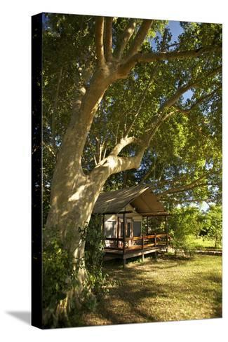 A Tent At the Lugenda Wilderness Camp in the Niassa Reserve-Jad Davenport-Stretched Canvas Print