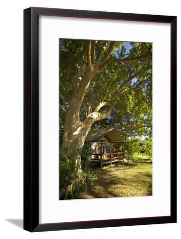 A Tent At the Lugenda Wilderness Camp in the Niassa Reserve-Jad Davenport-Framed Art Print