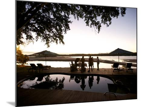 Drinks By the Pool At Lugenda Wilderness Camp in the Niassa Reserve-Jad Davenport-Mounted Photographic Print