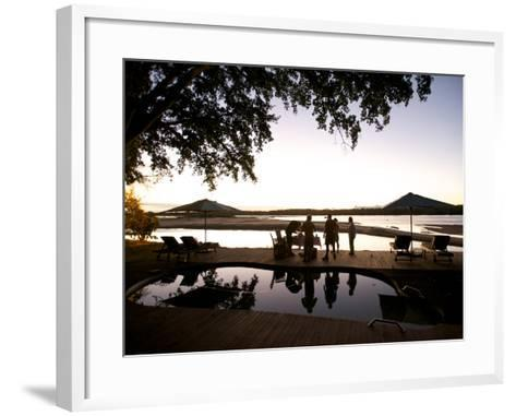 Drinks By the Pool At Lugenda Wilderness Camp in the Niassa Reserve-Jad Davenport-Framed Art Print