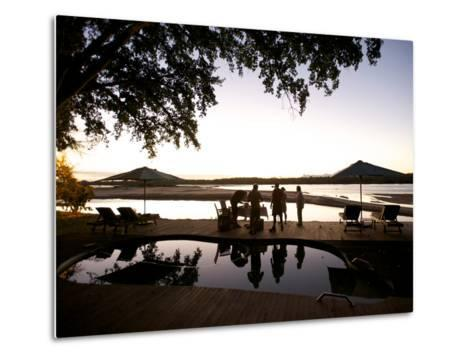 Drinks By the Pool At Lugenda Wilderness Camp in the Niassa Reserve-Jad Davenport-Metal Print