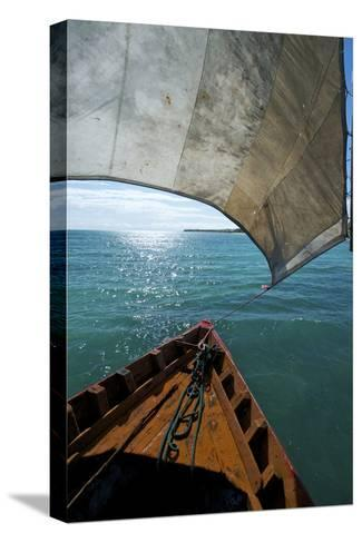 View From a Fishing Dhow Off the Coast of Matemo Island, Mozambique-Jad Davenport-Stretched Canvas Print