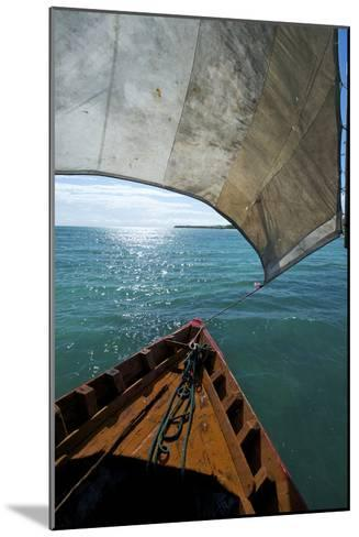 View From a Fishing Dhow Off the Coast of Matemo Island, Mozambique-Jad Davenport-Mounted Photographic Print